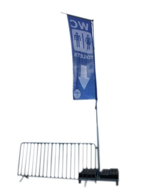 Fahnen Banner WC Toilette Leitsystem Veranstaltung
