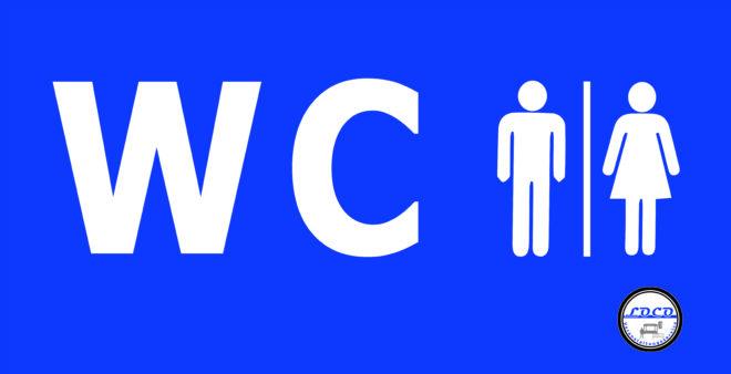 WC Toiletten Personenleitsysten Banner Mobilzaun Bauzaun Veranstaltung Veanstaltungen Leitsysten