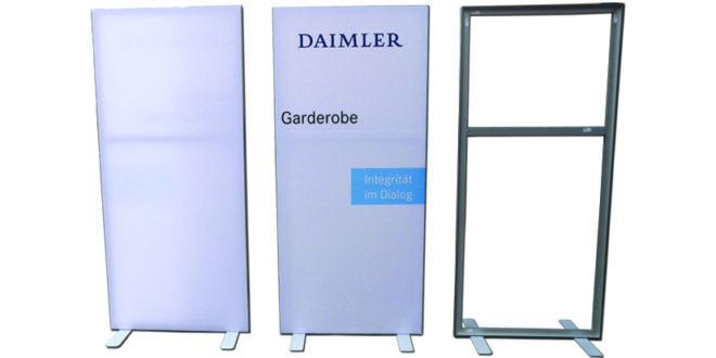 Banner Rahmensystem Veranstaltung Messe Leitsystem