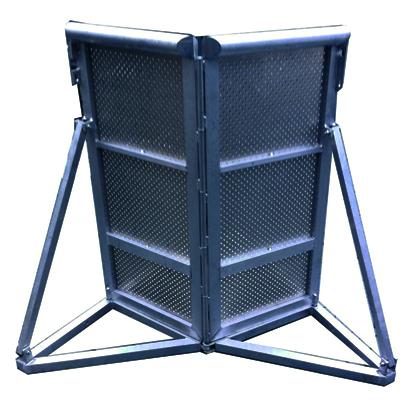 Stagebarrier flexible Ecke Stage Barrier Crash Barrier Bühnengitter Veranstaltung Konzert Event Material