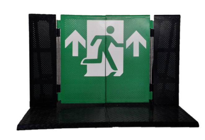 Stagebarrier Emegency Gate Notausgang Stage Barrier Crash Barrier Bühnengitter Veranstaltung Konzert Event Material