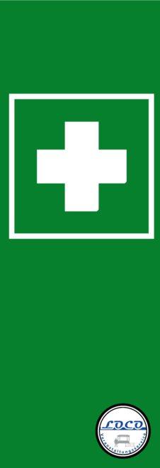 Fahne Erste Hilfe Banner Veranstaltung Leitsystem Personenleitsystem
