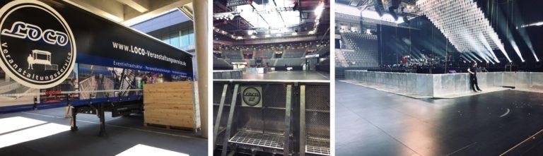 Konzert Porsche Arena Absperrgitter Stagehands Stuttgart Eventhand Stagehand LOCO Absperrung Stage Barrier Stagebarrier Bühnengitter Veranstaltung Event Personaldienstleistung