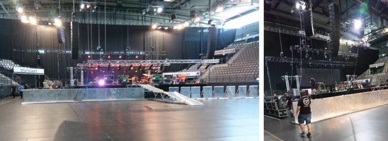 Bühnengitter Eventhelfer Veranstaltungshelfer Stagehand Veranstaltung Konzert Schleyer-Halle Stuttgart Stagebarrier Personaldienstleistung Absperrung