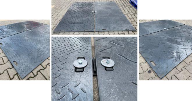 Bodenplatte Kunsstoffplatte Fahrstraße