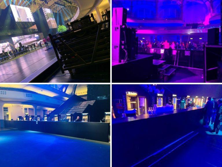 Thekensystem Theken IAA Absperrung Stagebarrier Stage Barrier Bühnengitter Mannesmanngitter Bauzaun Stagehand Event Personal Veranstaltung Konzert Messe