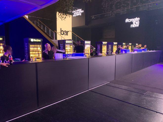 mobilebar Bar Theken Veranstaltung Event Messe Stagehand IAA Catering