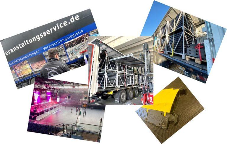 Abbspergitter Stagehands Veranstaltungshelfer Eventhelfer Bühnengitter Veranstaltungsservice Event Konzert Hanns-Martin-Schleyer-Halle Stuttgart Stage Barrier Stagebarrier Bauzaun Absperrung