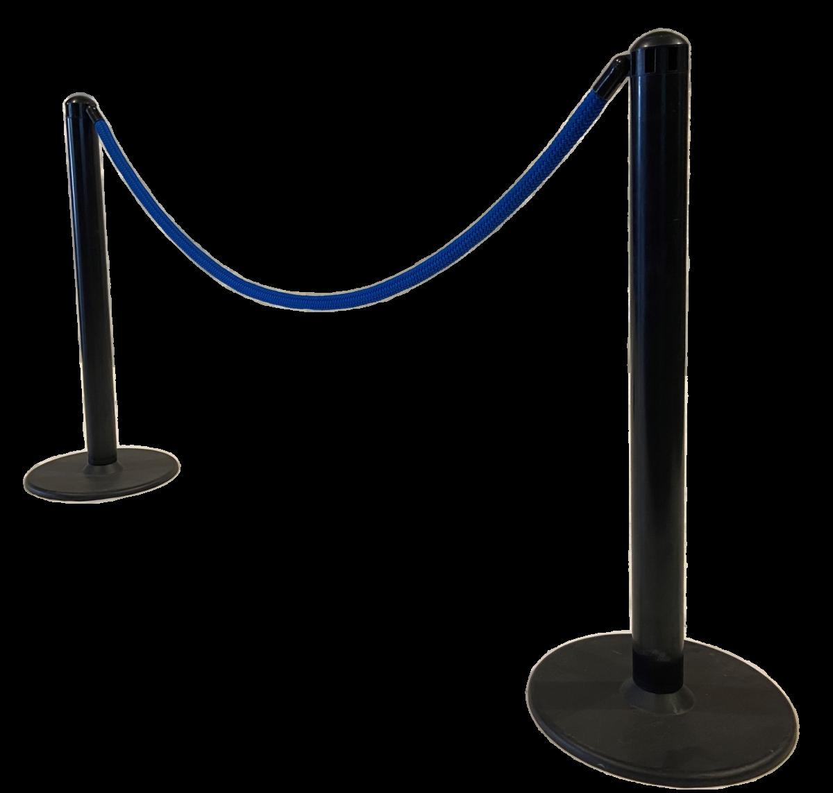 Tensatoren Absperrpfosten Gurtpfosten Absperrung Veranstaltung Seil blau