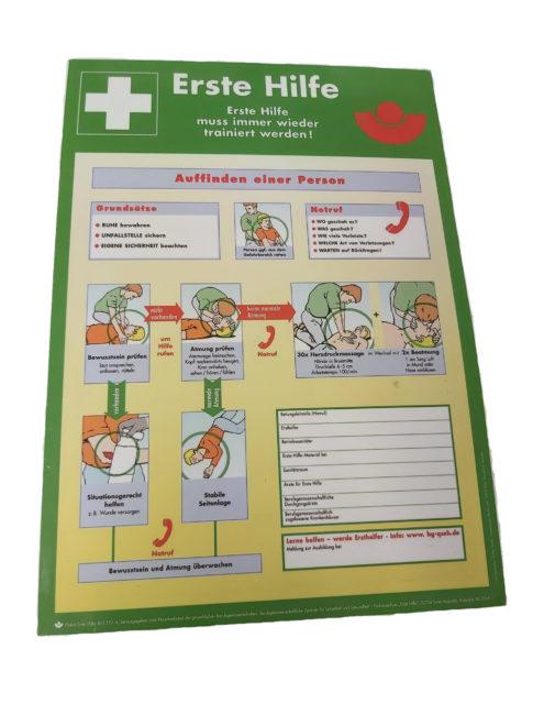 Hinweisschild Erste Hilfe leisten