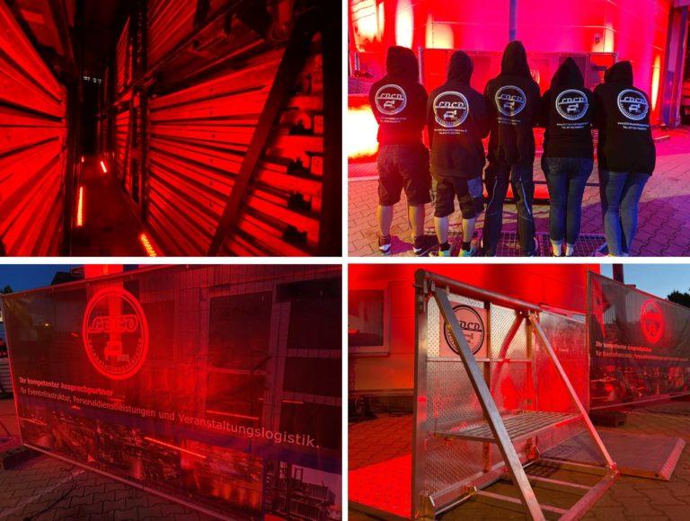 Night of Light Corona Veranstalungswirtschaft Stagehand Absperrung