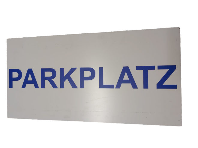 Hinweisschild Partkplatz Leitsystem Personenleitsystem