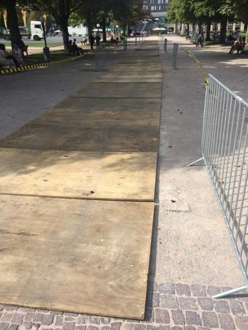 Bodenplatten Plywood Bodenschutz