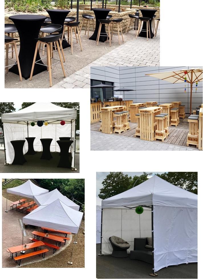 Mietmöbel Pavillon Festzelt Biertischgarnitur Palettenmöbel