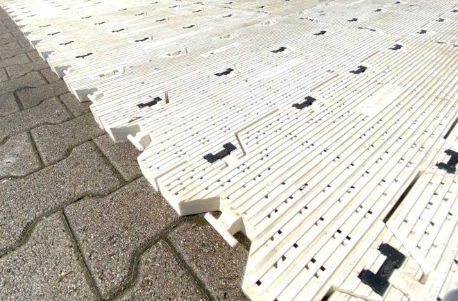 Rasenabdeckung Stadionboden Supa Trac Bodenschutz Rasenschutz