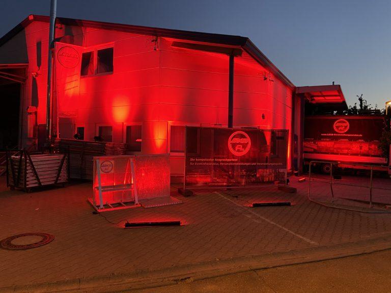 Night of Light LOCO Veranstaltungsservice Absperrgitter Events