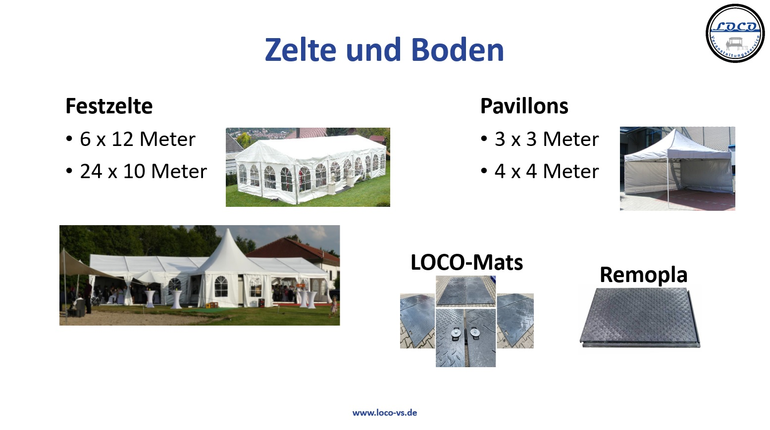 Zelte Festzelt Pavillons Remopla Bodenschutz